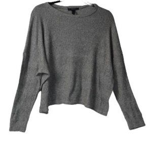 American Apparel Grey Knit Cropped Sweater L